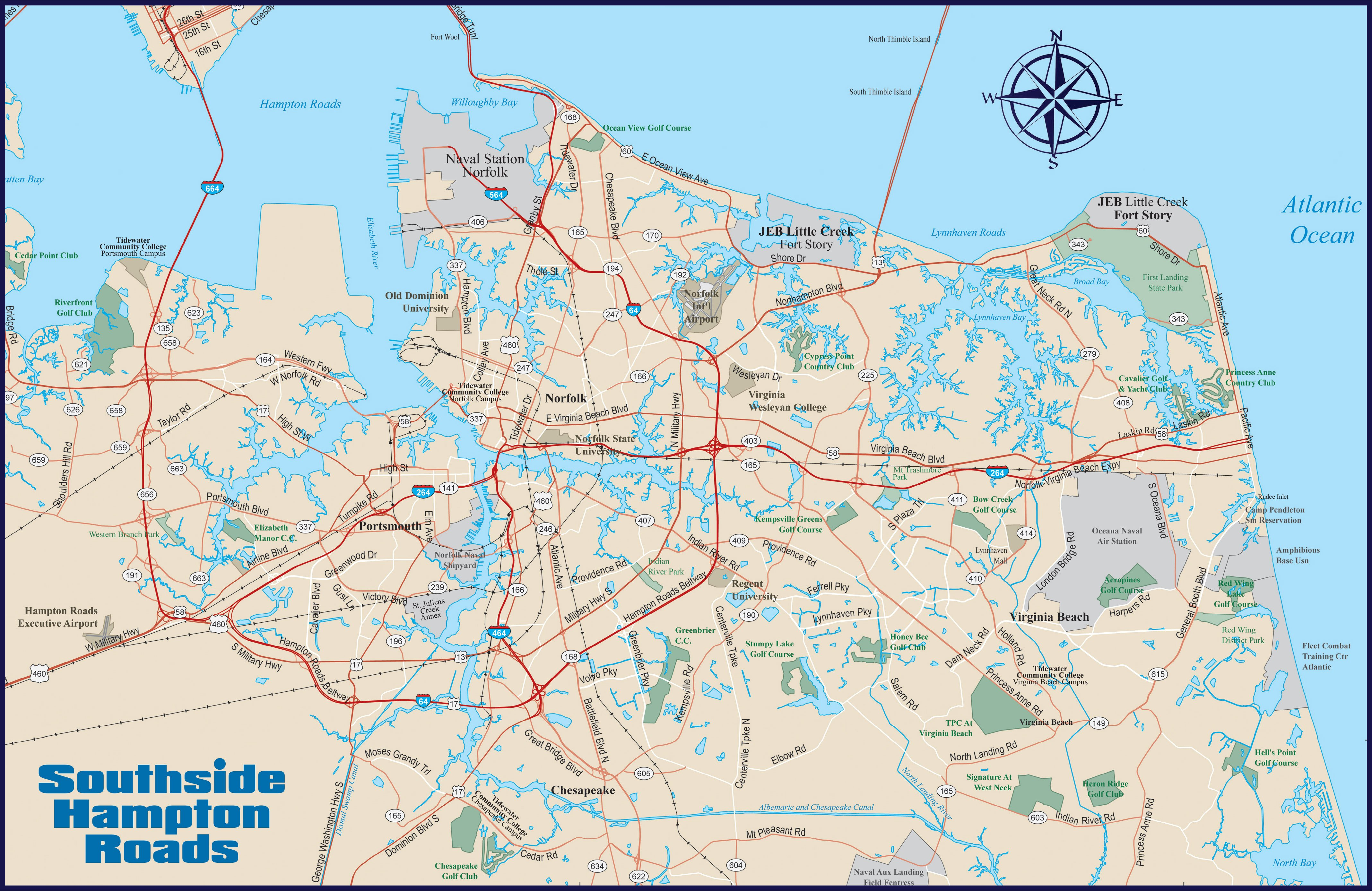 Area Map | Naval Station Norfolk Base Guide & Command Directory